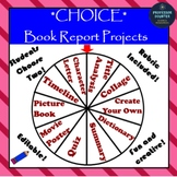 Choice Book Report Projects EDITABLE for Fiction Books