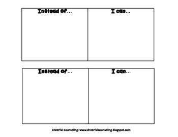 Instead of..I can Activity {FREEBIE}