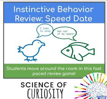 Biology Review Activity! Instinctive Behavior: Up and Moving 'Speed Dating'