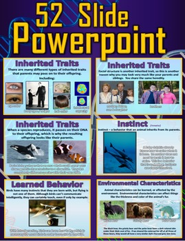 Instincts and Inherited Traits vs. Learned Behaviors: 2 Lessons, PPT, Printables