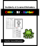 Instincts and Learned Behaviors Color By Number