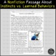 Instincts vs. Learned Behaviors Reading Comprehension Paired Passages