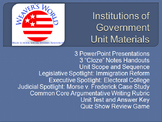 Branches of Government Complete Unit - PPTs, Lessons, Exam