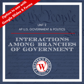 Institutions of Government Unit Materials for AP Government and Politics