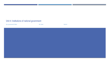 Institutions of National Government PPT