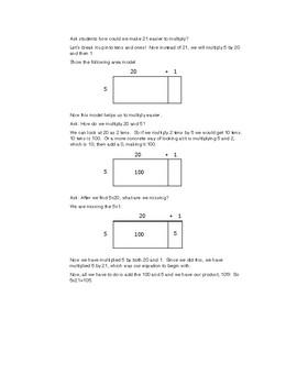 Instruction For Area Models