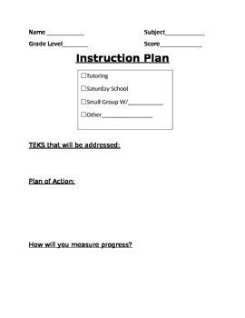 Instruction Plan Documentation