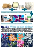Instruction Poster to create Batik Art!