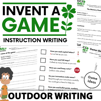Instruction Writing – Invent A Game