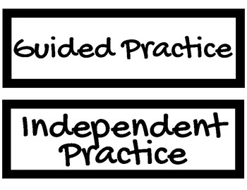 Instructional Agenda Labels