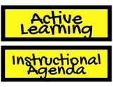 Instructional Agenda Labels - Yellow & Black