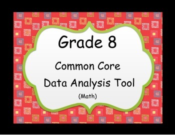 Instructional Analysis Tool - Common Core Grade 8 Math