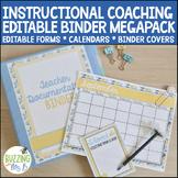 Instructional Coach Binder MegaPack of Printable, Fillable