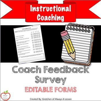 Instructional Coaching: Coach Feedback Survey