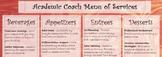 Instructional Coach Menu
