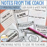 Instructional Coach Notes: Printable Notes to Give to Teac