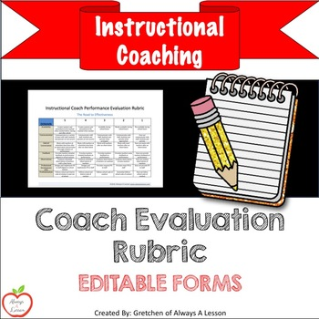 Instructional Coaching Coach Performance Evaluation Rubric By
