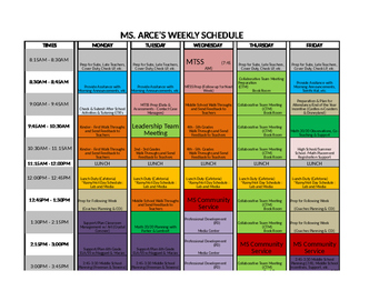 Instructional Coach Schedule