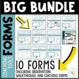 Instructional Coaching 25 Observation Walkthrough Coaching Forms Growing Bundle