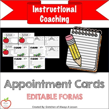 Instructional Coaching: Appointment Cards