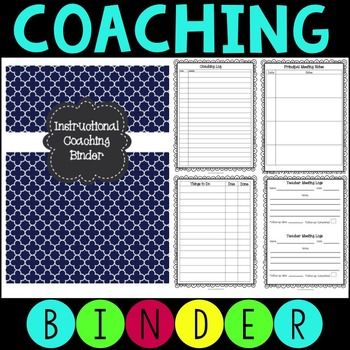 Instructional Coaching Binder - Editable Forms