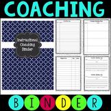 Instructional Coaching Binder - Editable Forms