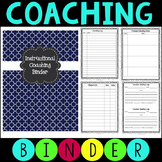 Instructional Coaching Binder - Editable Forms with Google Option
