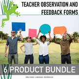 Instructional Coaching Bundle 6 Teacher Observation & Feed