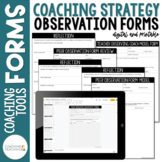 Instructional Coaching Coaching Strategy Observation Forms