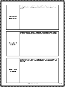 Instructional Coaching Corrective Instruction Action Planning Template