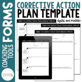 Instructional Coaching Corrective Instruction Action Plann