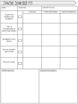 Instructional Coaching Cycle Template & Snapshots