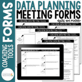 Instructional Coaching Data Meeting Planning Forms