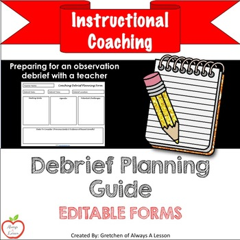 Instructional Coaching: Debrief Planning Guide