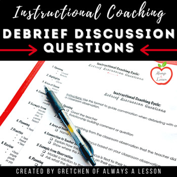 Instructional Coaching: Observation Debrief Discussion Format