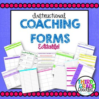 Instructional Coaching Documents - EDITABLE!