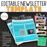 Instructional Coaching Editable Newsletter Templates