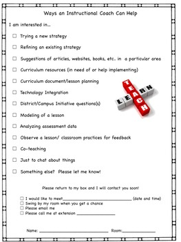Instructional Coaching Form Are You Interested?