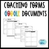 Instructional Coaching Forms ((Google Docs))