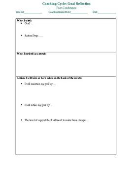Instructional Coaching: Goal Reflection