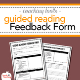 Instructional Coaching – Guided Reading Feedback Form