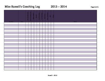 Instructional Coaching Log