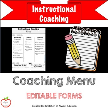 Instructional Coaching: Menu of Support