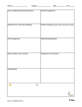 Instructional Coaching Observation and Feedback Forms