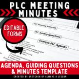 Instructional Coaching: PLC Meeting Guide [EDITABLE]