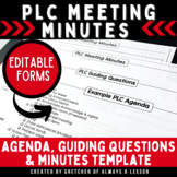 Instructional Coaching: PLC Meeting Minutes [EDITABLE]