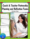 Instructional Coaching Partnership Planning and Reflection.