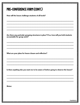 Instructional Coaching – Pre-Conference Form