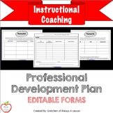 Instructional Coaching: Professional Development Plan [Editable]