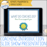 Instructional Coaching Slide Show to Introduce Your Role